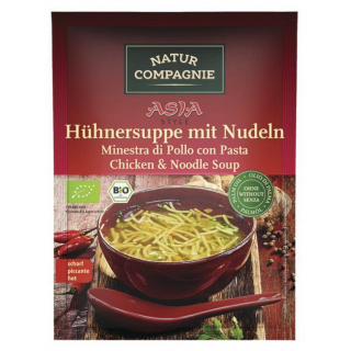Asia Hühnersuppe mit Nudeln
