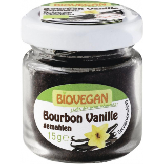 Bourbon Vanille im Glas gemahlen