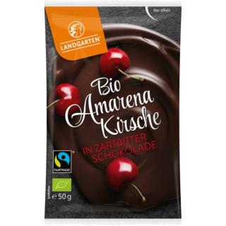 Amarenakirsche in Zartbitterschokolade