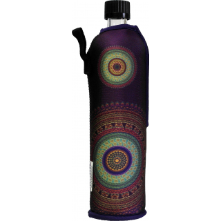 Glasflasche Neopren Mandala 500 ml
